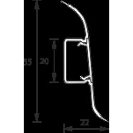 Плинтус «Комфорт» IDEAL (ИДЕАЛ) Е55  2,5м